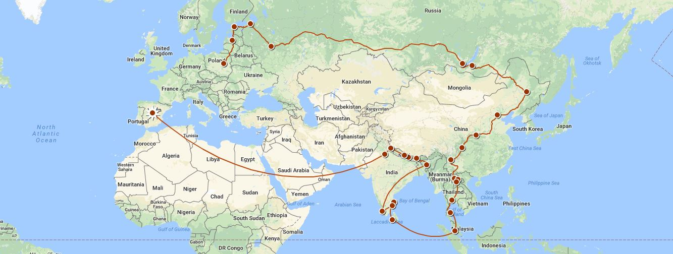 Move Our World - itinerary picture